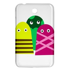 Three Mosters Samsung Galaxy Tab 3 (7 ) P3200 Hardshell Case  by Valentinaart