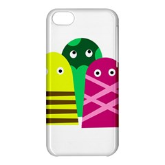 Three Mosters Apple Iphone 5c Hardshell Case by Valentinaart