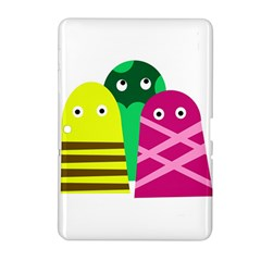 Three Mosters Samsung Galaxy Tab 2 (10 1 ) P5100 Hardshell Case  by Valentinaart