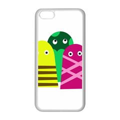 Three Mosters Apple Iphone 5c Seamless Case (white) by Valentinaart