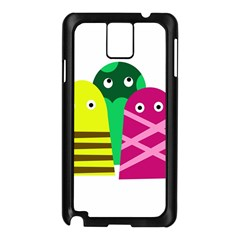 Three Mosters Samsung Galaxy Note 3 N9005 Case (black) by Valentinaart