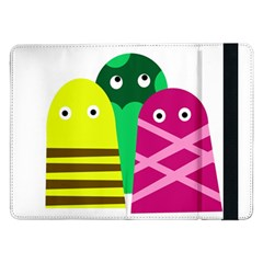 Three Mosters Samsung Galaxy Tab Pro 12 2  Flip Case by Valentinaart
