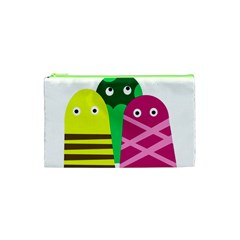 Three Mosters Cosmetic Bag (xs) by Valentinaart