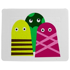 Three Mosters Jigsaw Puzzle Photo Stand (rectangular) by Valentinaart