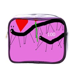 Centipedes Mini Toiletries Bags by Valentinaart