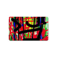 Colorful Abstraction Magnet (name Card) by Valentinaart