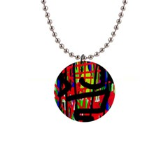 Colorful Abstraction Button Necklaces