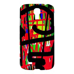 Colorful Abstraction Samsung Galaxy S4 I9500/i9505 Hardshell Case by Valentinaart