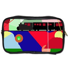 Abstract Train Toiletries Bags