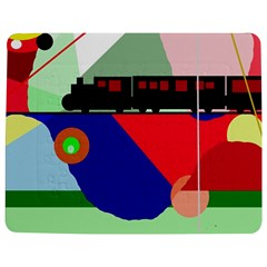 Abstract Train Jigsaw Puzzle Photo Stand (rectangular) by Valentinaart