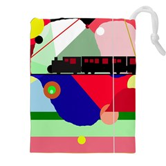 Abstract Train Drawstring Pouches (xxl)