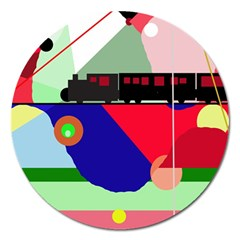 Abstract Train Magnet 5  (round) by Valentinaart