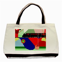 Abstract Train Basic Tote Bag (two Sides) by Valentinaart