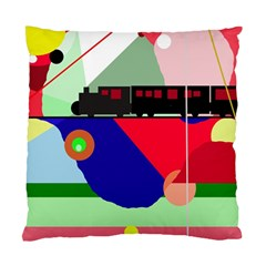 Abstract Train Standard Cushion Case (one Side) by Valentinaart