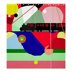 Abstract Train Shower Curtain 66  X 72  (large)  by Valentinaart