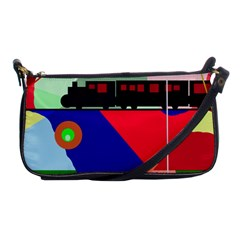 Abstract Train Shoulder Clutch Bags by Valentinaart