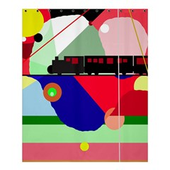 Abstract Train Shower Curtain 60  X 72  (medium)  by Valentinaart