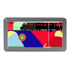 Abstract Train Memory Card Reader (mini) by Valentinaart