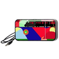Abstract Train Portable Speaker (black)  by Valentinaart