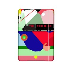 Abstract Train Ipad Mini 2 Hardshell Cases by Valentinaart