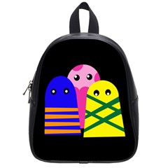 Three Monsters School Bags (small)  by Valentinaart