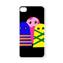 Three Monsters Apple Iphone 4 Case (white) by Valentinaart