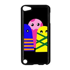 Three Monsters Apple Ipod Touch 5 Case (black) by Valentinaart