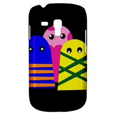 Three Monsters Samsung Galaxy S3 Mini I8190 Hardshell Case by Valentinaart
