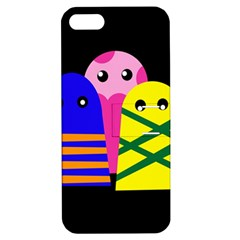 Three Monsters Apple Iphone 5 Hardshell Case With Stand by Valentinaart