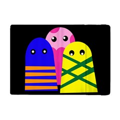 Three Monsters Ipad Mini 2 Flip Cases by Valentinaart
