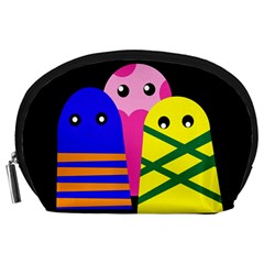 Three Monsters Accessory Pouches (large)  by Valentinaart