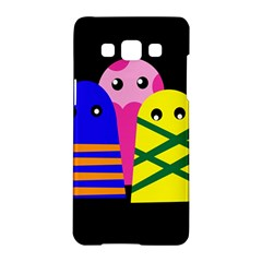 Three Monsters Samsung Galaxy A5 Hardshell Case  by Valentinaart