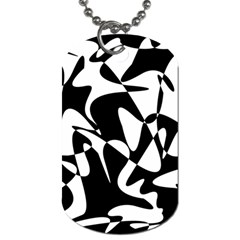 Black And White Elegant Pattern Dog Tag (one Side) by Valentinaart