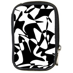 Black And White Elegant Pattern Compact Camera Cases by Valentinaart