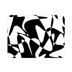 Black And White Elegant Pattern Double Sided Flano Blanket (mini)  by Valentinaart