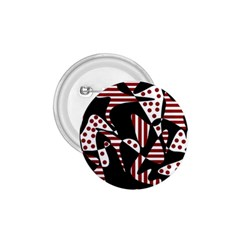 Red, Black And White Abstraction 1 75  Buttons by Valentinaart