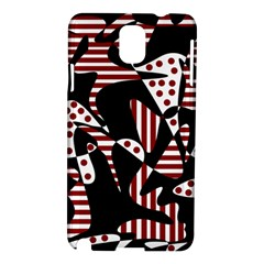 Red, Black And White Abstraction Samsung Galaxy Note 3 N9005 Hardshell Case by Valentinaart