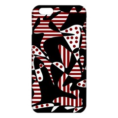 Red, Black And White Abstraction Iphone 6 Plus/6s Plus Tpu Case by Valentinaart