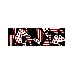 Red, Black And White Abstraction Satin Scarf (oblong) by Valentinaart