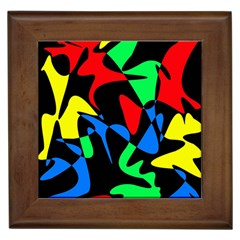 Colorful Abstraction Framed Tiles by Valentinaart