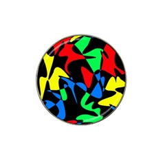 Colorful Abstraction Hat Clip Ball Marker (4 Pack) by Valentinaart