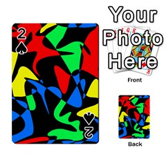 Colorful Abstraction Playing Cards 54 Designs  by Valentinaart
