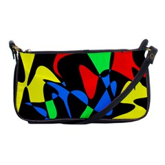 Colorful Abstraction Shoulder Clutch Bags by Valentinaart