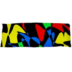 Colorful Abstraction Body Pillow Case Dakimakura (two Sides) by Valentinaart