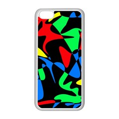 Colorful Abstraction Apple Iphone 5c Seamless Case (white) by Valentinaart