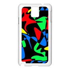 Colorful Abstraction Samsung Galaxy Note 3 N9005 Case (white) by Valentinaart
