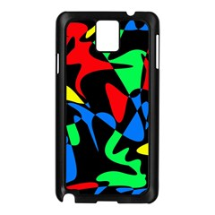 Colorful Abstraction Samsung Galaxy Note 3 N9005 Case (black) by Valentinaart