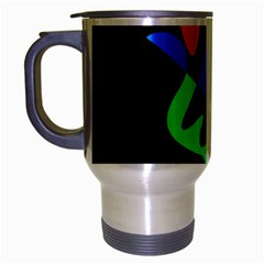 Colorful Abstraction Travel Mug (silver Gray) by Valentinaart
