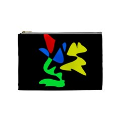 Colorful Abstraction Cosmetic Bag (medium)  by Valentinaart