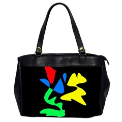 Colorful Abstraction Office Handbags (2 Sides)  by Valentinaart